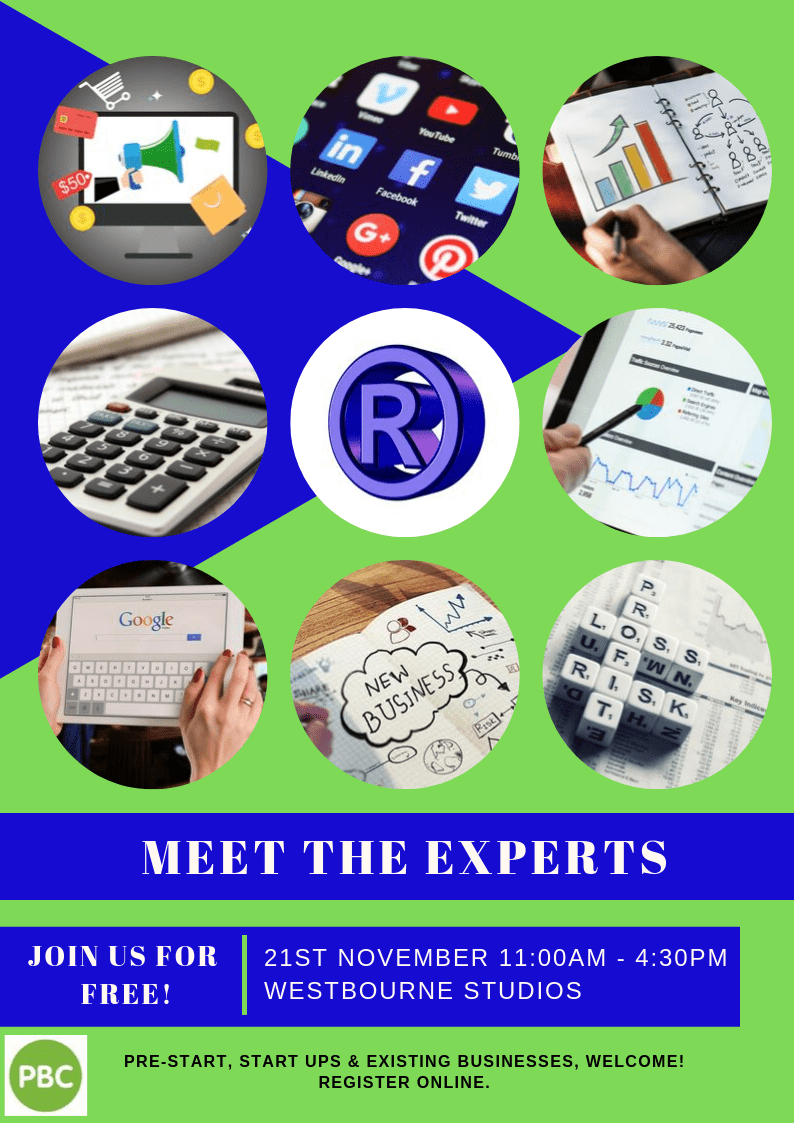 Meet The Experts - Free Event For Pre-start, StartUps & Existing Businesses