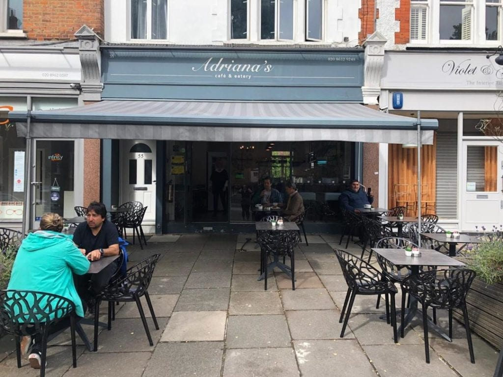 Adriana's cafe North Kensington Reopening